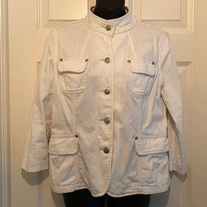 Mossimo White Denim Jacket